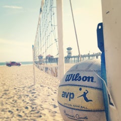 Photo taken at Huntington Beach Beach Volleyball Courts by Shawn H. on 5/22/2013
