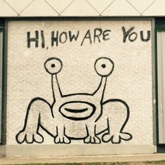 Photo taken at Hi How Are You? Mural by Oasisantonio on 3/30/2015