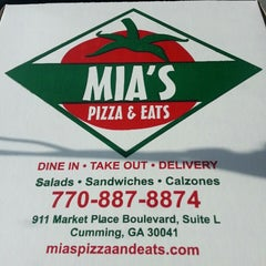 Photo taken at Mia's Pizza & Eats by DMoe W. on 10/4/2013