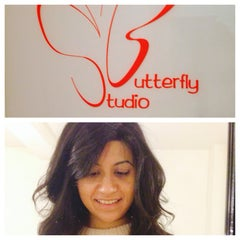 Photo taken at Butterfly Studio Salon by Nikhita M. on 1/29/2014
