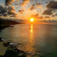 Photo taken at Tegal Wangi Beach by Lilia Z. on 1/18/2016