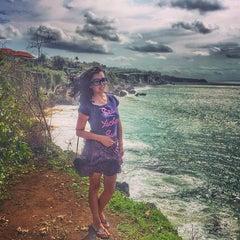 Photo taken at Tegal Wangi Beach by Lilia Z. on 12/26/2015