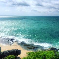 Photo taken at Tegal Wangi Beach by Lilia Z. on 12/28/2015