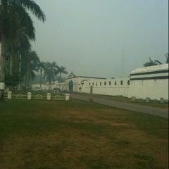 Photo taken at Benteng Kuto Besak by Mario H. on 10/11/2012
