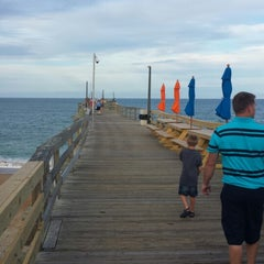 Photo taken at Avon Fishing Pier by Brent S. on 7/22/2014