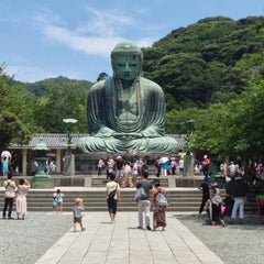 Photo taken at 鎌倉大仏 (Great Buddha of Kamakura) by tsuyosea s. on 7/15/2013