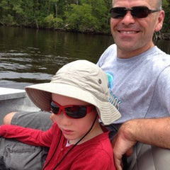 Photo taken at Jungle Erv's Airboat Tours by Katarina F. on 6/14/2014
