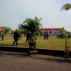 Photo taken at Alun - Alun Pati by udhi n. on 10/1/2014