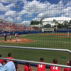 Photo taken at McKethan Stadium at Perry Field by Merrie F. on 4/23/2016