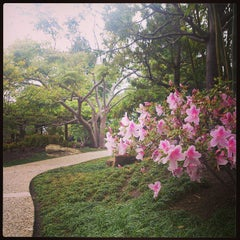 Photo taken at Japanese Friendship Garden by Alan B. on 4/16/2013