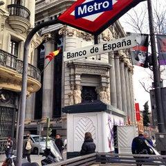 Photo taken at Metro Banco de España by Gianfranco L. on 3/21/2013