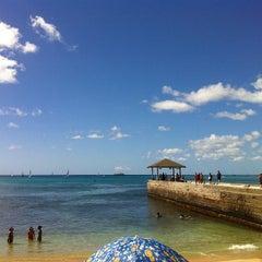Photo taken at Waikiki Beach Walls by Neenz F. on 2/9/2013