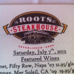 Photo taken at Roots Steakhouse by Marc B. on 7/7/2012