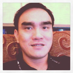 Photo taken at Jalan Jenderal Sudirman by Indra A. on 9/1/2012