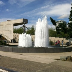Photo taken at Father & Son Fountain by Tracie B. on 6/10/2012