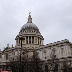 Photo taken at St Paul's Churchyard by Moises C. on 3/17/2012