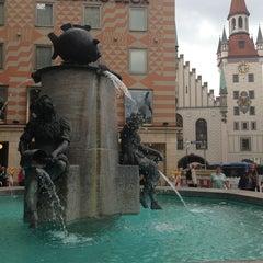Photo taken at Fischbrunnen by Katrina B. on 6/27/2013