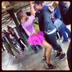 Photo taken at MTA Subway - 14th St/Union Square (L/N/Q/R/4/5/6) by Munira A. on 5/7/2013