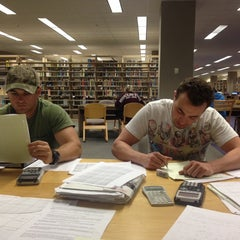 Photo taken at Duane G Meyer Library by Alyssa F. on 5/14/2014