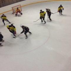 Photo taken at Talsu hokeja klubs (Talsi Ice Hockey club) by Matīss V. on 12/28/2014