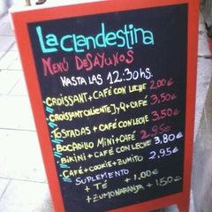 Photo taken at La Clandestina by paloma c. on 10/5/2012