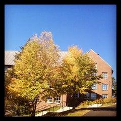 Photo taken at Dimond Library by Jason B. on 10/1/2012