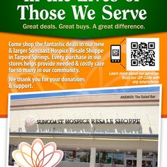 Photo taken at Suncoast Hospice Resale Shoppe by Eatery A. on 12/26/2012