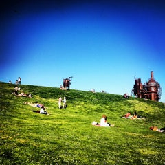 Photo taken at Gas Works Park by Alex P. on 4/1/2013