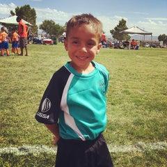 Photo taken at Desert Breeze Soccer Complex by Dr. Adam P. Z. on 9/20/2014
