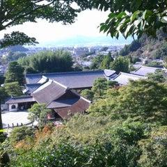 Photo taken at Ginkaku-ji Temple by Cenk G. on 10/25/2012