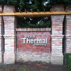 Photo taken at Thermal Hotel Harkány by Viktoria S. on 9/28/2012