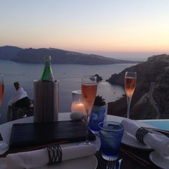 Photo taken at Katikies Hotel Santorini by Jamie C. on 7/7/2014