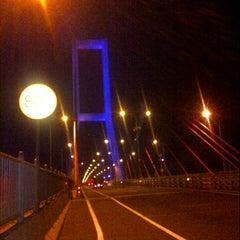 Photo taken at Jembatan Suramadu (Suramadu Bridge) by Shinta H. on 12/24/2012