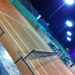 Photo taken at Academia de tenis Tenisport by Thiago P. on 2/20/2014