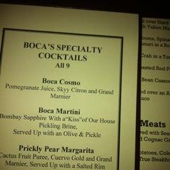 Photo taken at Boca Steak & Seafood by pauline p. on 11/3/2012