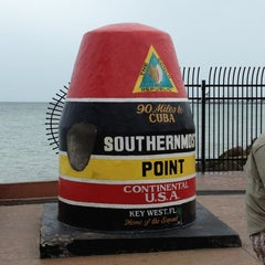 Photo taken at Southernmost Point Continental USA by Mark K. on 1/27/2013