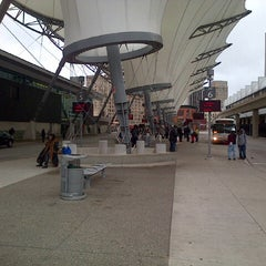Photo taken at Rosa Parks Transit Center by Meechy B. on 10/30/2012
