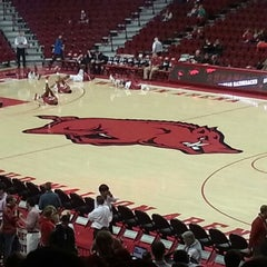 Photo taken at Bud Walton Arena by Aaron M. on 1/12/2013