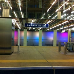 Photo taken at Metrostation Rotterdam Centraal by Willem v. on 3/22/2013