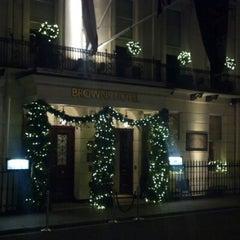 Photo taken at Brown's Hotel by Jeffrey B. on 12/23/2012