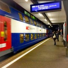 Photo taken at Bahnhof Dübendorf by Pianopia P. on 12/15/2014