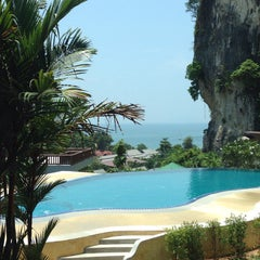 Photo taken at Railay Phutawan Resort by Daria K. on 4/14/2014