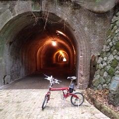 Photo taken at 明治宇津ノ谷隧道 by kumagata on 5/6/2014