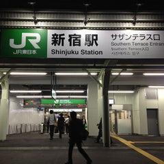 Photo taken at 新宿駅 (Shinjuku Sta.) by hideki f. on 6/3/2013