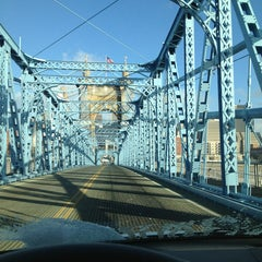 Photo taken at John A. Roebling Suspension Bridge by Adria L. on 2/1/2013