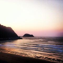 Photo taken at Playa de Zarautz by elena m. on 7/9/2013