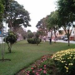 Photo taken at Parque Gonzales Prada by Eduardo T. on 12/8/2012