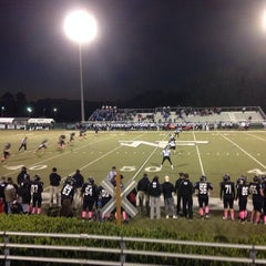 Photo taken at North Forsyth Football Stadium by Mike E. on 10/25/2013