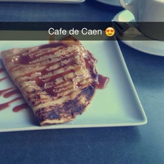 Photo taken at Le Café de Caen by Elif K. on 2/21/2015