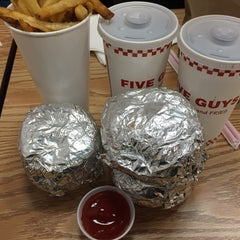 Photo taken at Five Guys by M.A.T on 2/1/2015